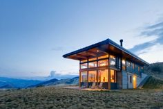 Nahahum is a two-story home located north of Cashmere, Washington, designed by Balance Associates Architects