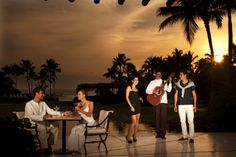 Grand Velas Riviera Nayarit Resort in Puerto Vallarta, Mexico. The ultimate wedding destination. Have dinner with a view while enjoying a private performance just for you and your spouse.