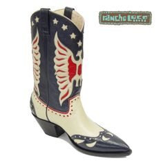 Blue Tribute Cowboy Boots, $499 - All-Leather Cowboy Boots - Handmade Cowboy Boots