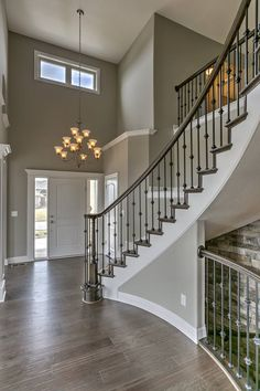 Paint dream home design, my dream home, house design, living room colors, h Home Stairs Design, Foyer Design, Dream Home Design, My Dream Home, Dream House Interior, Home Interior Design, Staircase Remodel, House Stairs, Dream House Plans