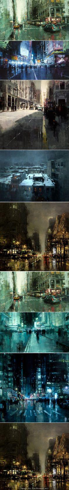 Jeremy Mann cityscapes