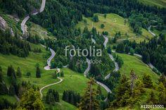 """""""Strassenverlauf am Oberjoch-Pass im Allgäu"""""""