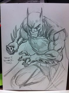Freddie E. Williams II posted a sketch of Batman