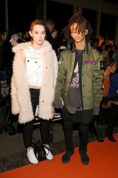 Sarah Snyder and Jaden Smith