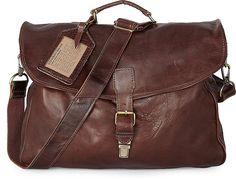 Vintage Tasche MIAMI von Cowboysbag in braun mittel für Herren. Gr. 1