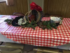Long table decoration for menu0027s chili cook-off & Table decorations for menu0027s chili cook off. | Party | Pinterest ...