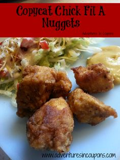 Copycat Chick-Fil-A Nuggets #Recipe! | www.adventuresincoupons.com  ♣  15.2.23