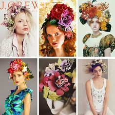 floral headdress inspiration