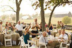 Outdoor Rustic Farm Wedding Reception