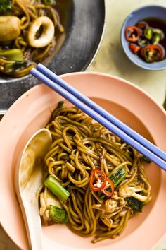 Seafood noodles, at a favorite spot in Penang