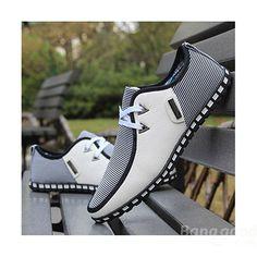 <font><font>Mens Casual zapatos de encaje de la moda de cuero de las zapatillas de deporte respirables</font></font>