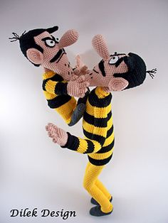 Amigurumi knitting toy sharing a great model is waiting for you. Amigurumi crochet dalton brothers knit toy model is. Crochet Patterns Amigurumi, Crochet Dolls, Amigurumi Tutorial, Lucky Luke Comics, Half Double Crochet, Single Crochet, Slip Stitch, Stuffed Toys Patterns, Handmade Toys