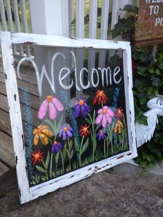 Beautiful Hand Painted Sign on a Screen