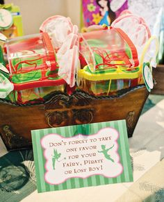 Tinkerbell Birthday Party Favors