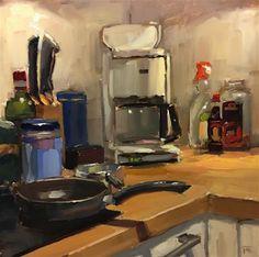 "Daily Paintworks - ""Kitchen Corner"" - Original Fine Art for Sale - © Thomas Ruckstuhl"