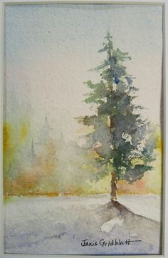 New landscaping watercolor flowers Ideas Watercolor Trees, Watercolor Flowers Paintings, Abstract Painting, Christmas Watercolor, Painting, Watercolor Flowers, Art, Watercolor Landscape, Watercolor Paintings Abstract