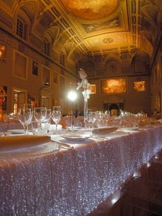 make your event literally glow - LED table covers Wedding Decorations, Table Decorations, Wedding Ideas, Wedding Details, Wedding Styles, Wedding Stuff, Tablecloth Fabric, Bling Wedding, Dream Wedding