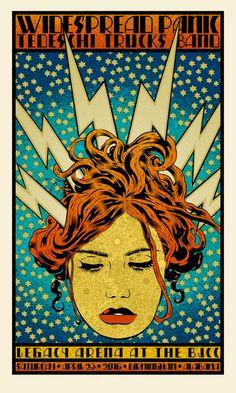 "Chuck Sperry - Widespread Panic, Birmingham ""Electra"" Poster"