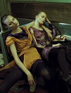 Magdalena Frackowiak and Siri Tollerod photographed by Steven Meisel for Alberta Ferretti Fall/Winter 2008 Steven Meisel, Fashion Art, Editorial Fashion, Fashion Beauty, Madonna, Magazine Vogue, Magdalena Frackowiak, Mode Editorials, Fashion Editorials