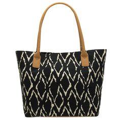 Payless Shoe Source, Women's Crush Ikat Shopper in black. $19.99