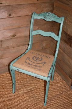 Old Dining Chair Turned Accent Piece.