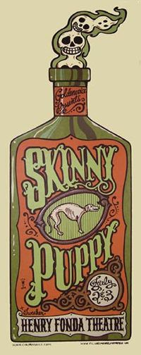 Skinny Puppy #gigposter by Michael Michael Motorcycle.