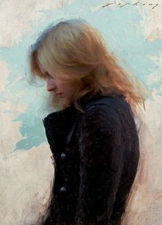 """Chelsey"" - Jeremy Lipking (b. 1975), oil on canvas {figurative representational art blonde female head profile woman face portrait cropped painting #loveart #2good2btrue} lipking.com"