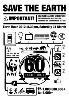 Earth Hour Infographic Tees Submission by Rizki Ratria, via Behance