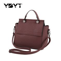 YBYT brand 2017 new fashion casual PU leather trapeze bags hotsale ladies handbag satchel small shoulder messenger crossbody bag