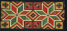 Carriage cushion from southern Sweden (Skåne) Double-interlocked tapestry. Rölakan. 1750-1870.