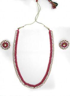 Radiant Pink Metal Necklace