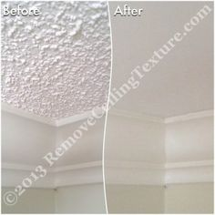 Ceiling Texture Removal Instead Of Drywalling Over Textured Ceilings The Homeowners Opted For