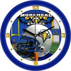 Mens Morehead State University Eagles - Football Helmet Wall Clock