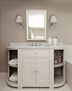 Neptune - Chichester 346mm Curved Open Base Cabinet. Master bath x2?