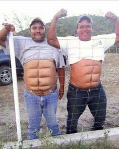 If you don't wanna work for the abs then get Instant abs. two fine examples of temporary instant abs