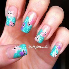 Octopus and starfish nails!