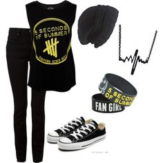 5 seconds of summer by fashionmaster18 on Polyvore featuring polyvore fashion style T By Alexander Wang Converse Laundromat
