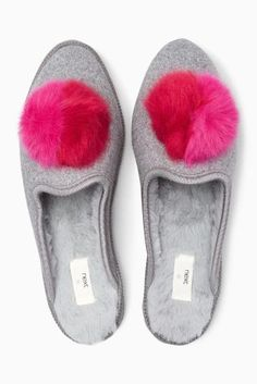 92ee021ce76 Buy Grey Pom Felt Mules from the Next UK online shop