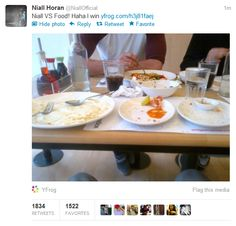 ....Niall's food afterward. OHEMGEEEEE that would be me :) and in ten minutes?! I love you nialler