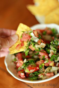 Just Another Day in Paradise: Recipe Thursday: Guacamole AND Pico de Gallo