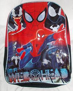 2dd103d83f5 Marvel Fast Forward Licensed Ultimate Spider-Man Backpack - 15in Red Black