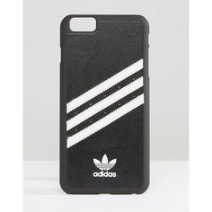 adidas Originals 3 Stripe iPhone 6 Case In Black And White (47 CAD) ❤ liked on Polyvore featuring accessories, tech accessories and adidas originals