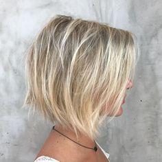 Blonde Balayage Bob For Fine Hair