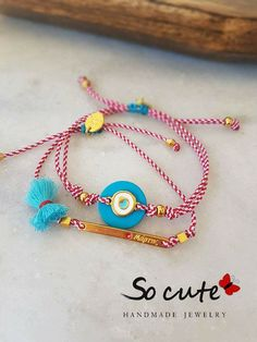 Macrame Bracelets, Handmade Bracelets, Handmade Jewelry, Trendy Jewelry, Boho Jewelry, Bracelet Making, Jewelry Making, Ring Watch, Lucky Charm