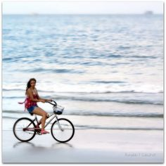more bicycles! It's fun riding along the smooth part of the beach and you get to smell the salt air.