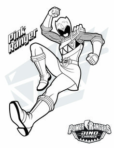 pink ranger download them all httpwwwpowerrangerscom - Power Rangers Dino Coloring Pages