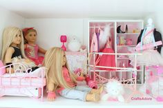 American Girl Doll House Tour - The Ballerina Themed Bedroom ~HD PLEASE ...