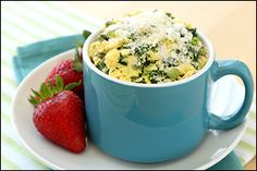 Lean 'n Green Egg Mug - kale, spinach, asparagus... and, of course, The Laughing Cow Light cheese!!