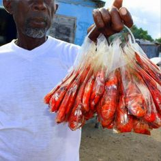 They're red hot... literally! Tell us, have you ever tried the spicy pepper shrimp in Jamaica?   Photo taken at Hellshire Beach. See more photos of the Jamaican experience on our Instagram page: www.instagram.com/visitjamaica