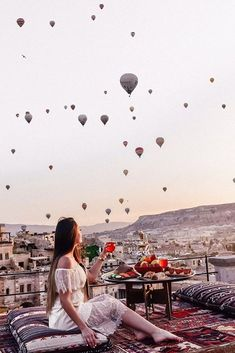 Terraced above the village of Goreme in Turkey, Sultan Cave Suites offers the modern traveler a unique cave experience. The city is known for its ballooning, which offers exquisite views from the Cappadocia hotel. #WanderCurious